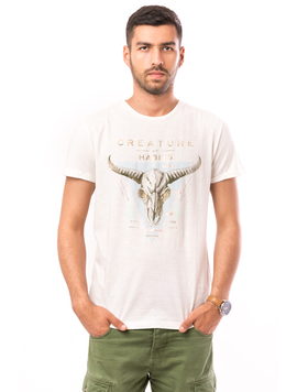 Tricou Barbati Creature Of Habits Alb