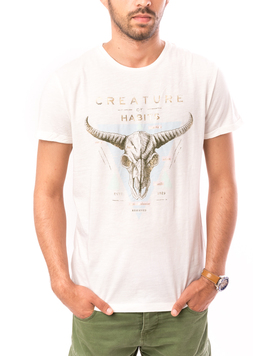 Tricou Barbati Creature Of Habits Alb-2