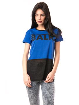Tricou Dama Cu Imprimeu Blah Blah Albastru