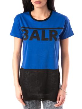 Tricou Dama Cu Imprimeu Blah Blah Albastru-2