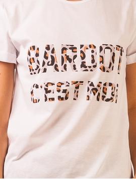 Tricou Dama Bardot C'est Moi Alb-2
