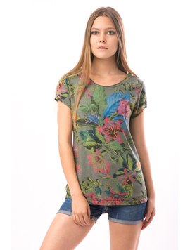 Tricou Dama JunglePrint Kaky