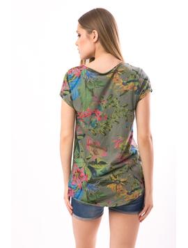 Tricou Dama JunglePrint Kaky-2