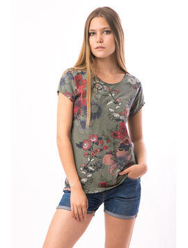Tricou Dama FriendlyFlowers Kaky