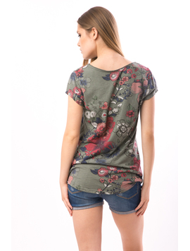 Tricou Dama FriendlyFlowers Kaky-2