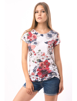 Tricou Dama FriendlyFlowers Alb