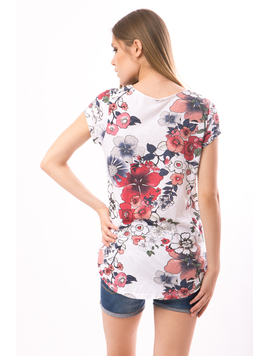 Tricou Dama FriendlyFlowers Alb-2