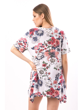 Tricou Dama Lung FriendlyFlowers Alb-2