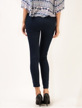 Pantaloni Left Side Zip Navy-2