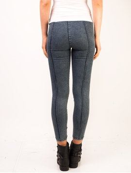 Pantaloni Dama Left Side Zip Denim Blue-2