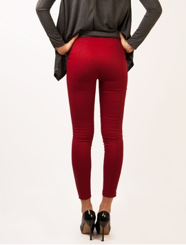 Pantaloni Left Side Zip Garnet-2
