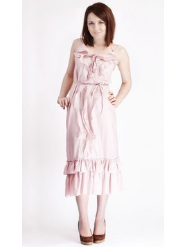 Rochie  Silky Cotton Candy Pink
