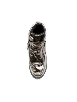 Sneakers Dama Cu Platforma PistolOn Gri Metalizat-2
