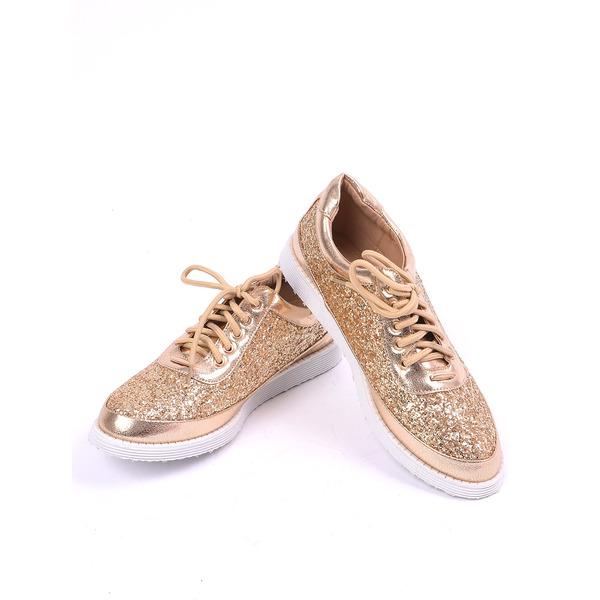 Pantofi Dama Casual Brilliant Aurii