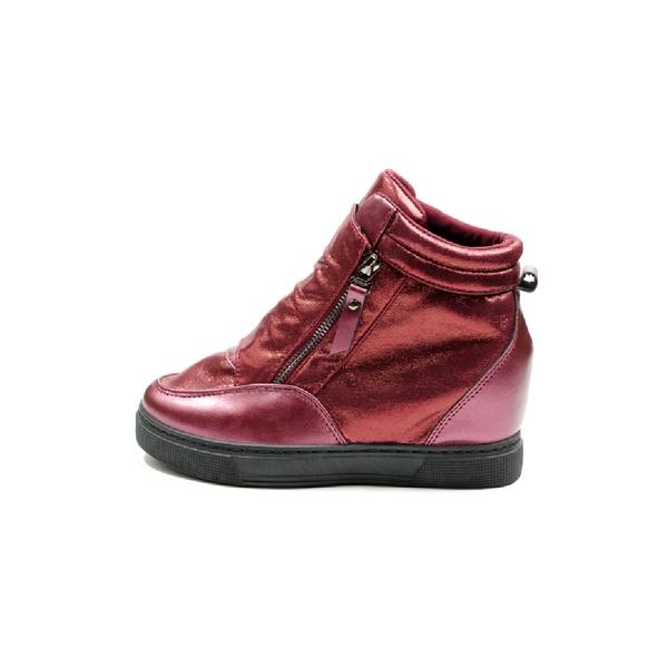 Sneakers Dama Cu Platforma PistolOn Bordo