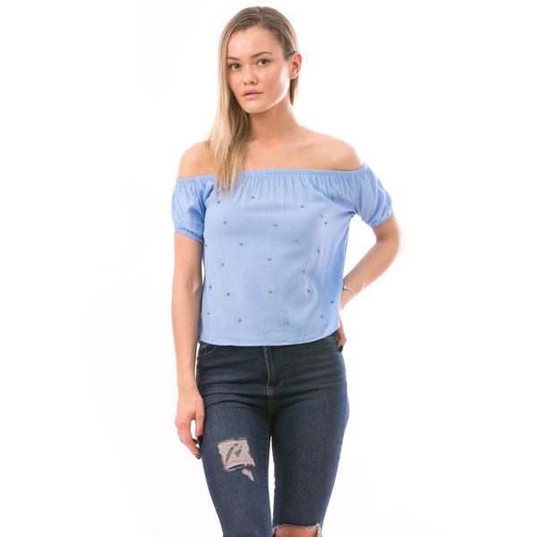 Bluza Dama NiceOnePearl Albastru