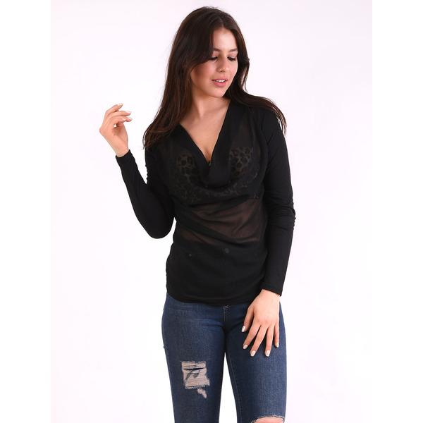 Bluza Dama Cu Voal In Fata Glory Neagra