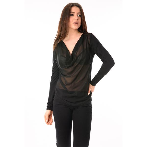 Bluza Dama Din Voal Party Neagra
