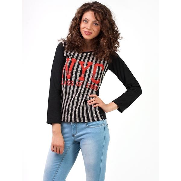Bluza Dama Striped NYC Neagra