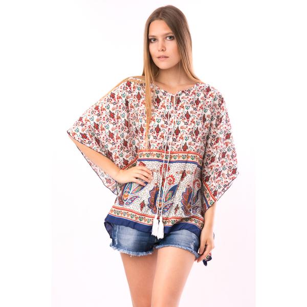 Bluza Dama PonchoStyle Bleumarin