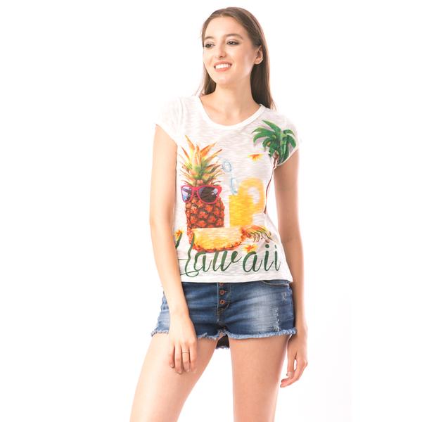 Bluza Dama SweetOrganic Ananas Alb