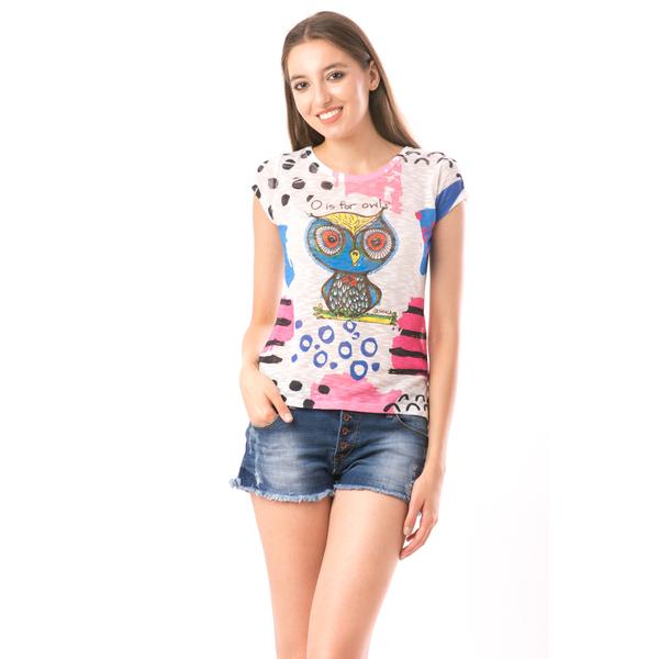 Bluza Dama SweetOrganic Owl Alb