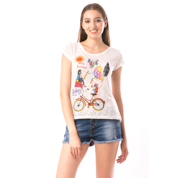 Bluza Dama SweetOrganic Summer Alb