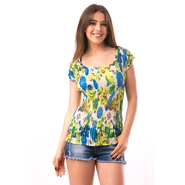 Bluza Dama Creponata Rainbow Verde Deschis