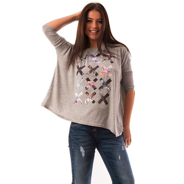 Bluza Dama Cu Imprimeu X Files Gri