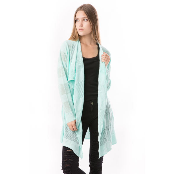 Cardigan Dama Cu Ajur SchoolCollection Lime