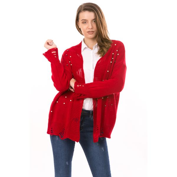 Cardigan Dama AllPearl Rosu