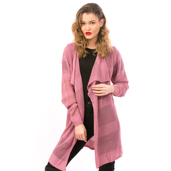 Cardigan Dama Cu Ajur LongSchoolCollection Roz
