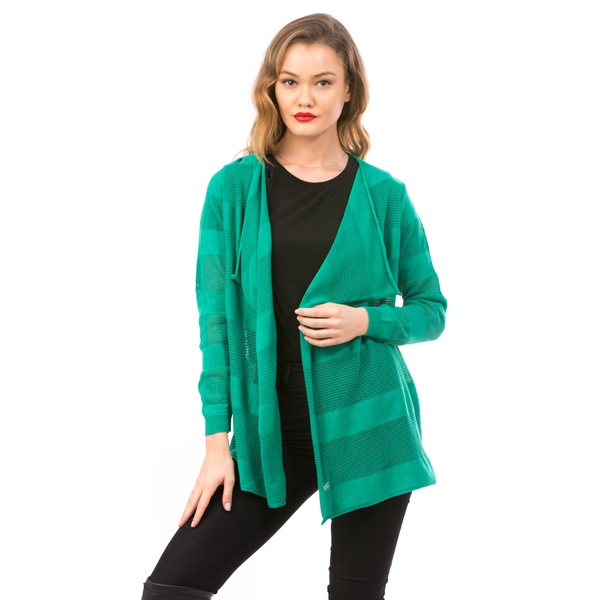 Cardigan Dama Cu Ajur NewSchoolCollection Verde
