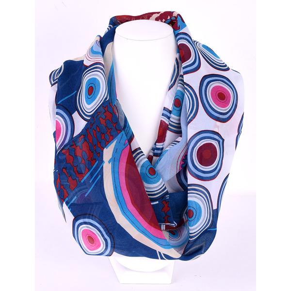 Esarfa Dama Loop Cu Imprimeu Heart Bleumarin Si Albastru
