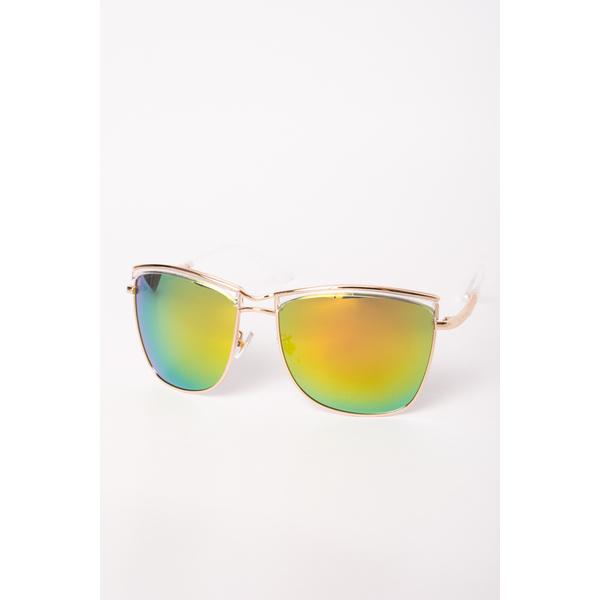Ochelari De Soare Dama Lollipop Verde Si Auriu