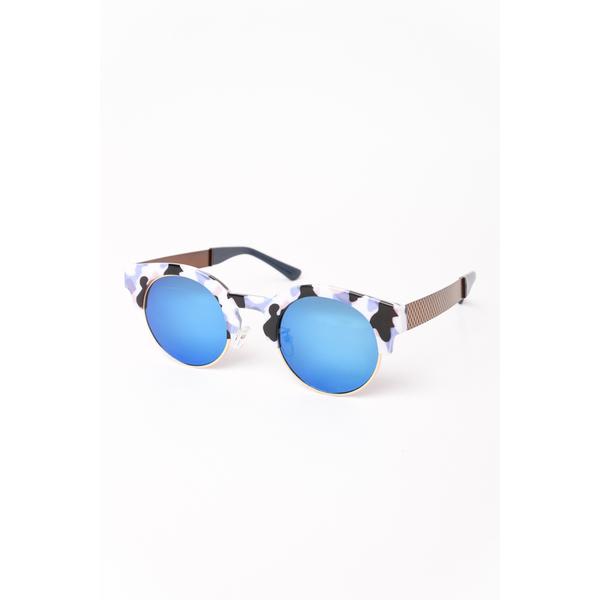 Ochelari De Soare Dama Cu Model Army Sunny Day Albastru Si Alb