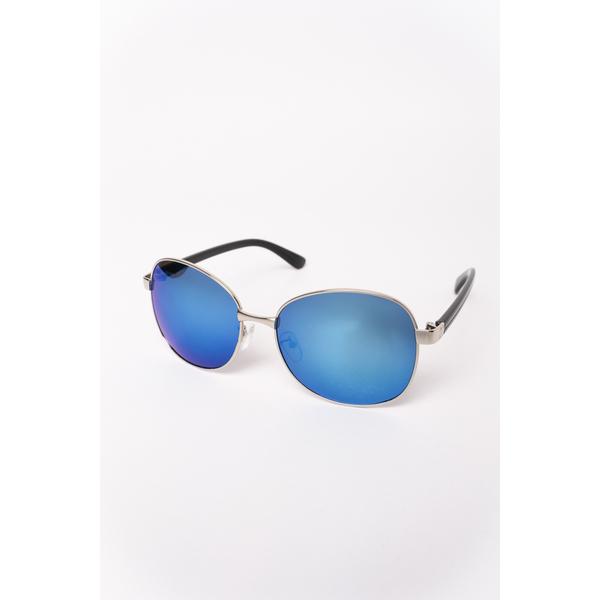 Ochelari De Soare Dama Cu Lentila Oglinda Burn It Argintiu Si Albastru