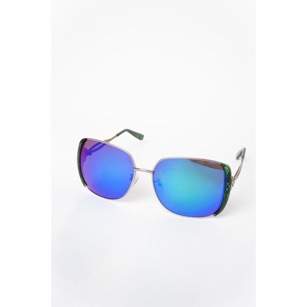 Ochelari De Soare Dama Impression Albastru Si Argintiu