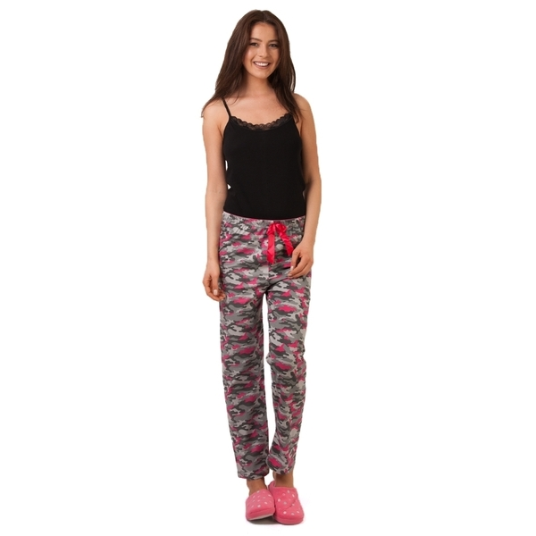 Pantaloni De Pijama Cute Army Girl Grey&pink