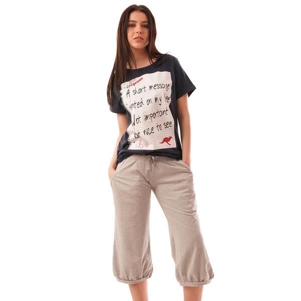 Pantaloni Dama Trei Sferturi Simplicity Gri