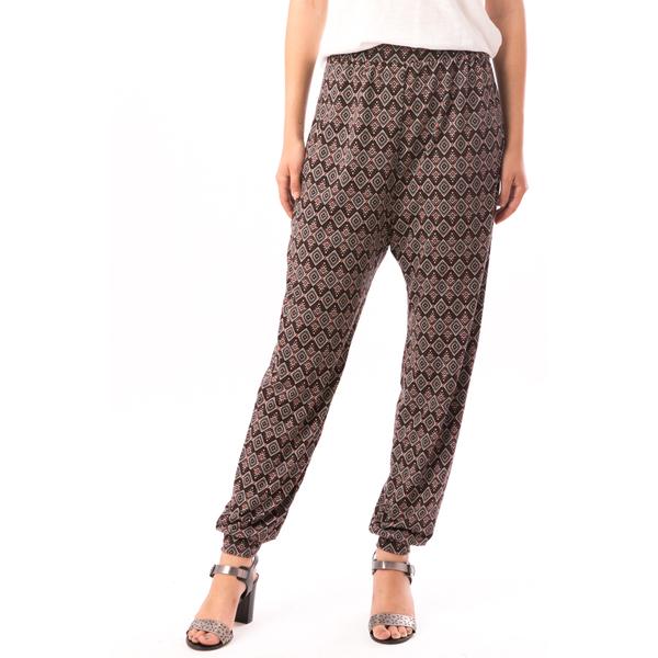 Pantaloni Dama In Carouri Din Tricot HyppyStyle Grena