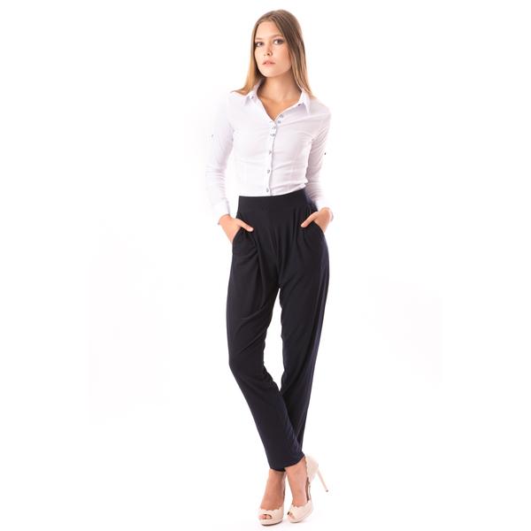 Pantaloni Dama Cu Buzunare FarAway Bleumarin