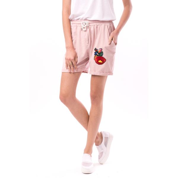 Pantaloni Scurti Dama Cu Broderie Candy Roz Fanat
