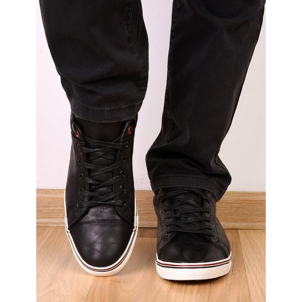 Pantofi Barbati Sport Cu Steag Italia Negri
