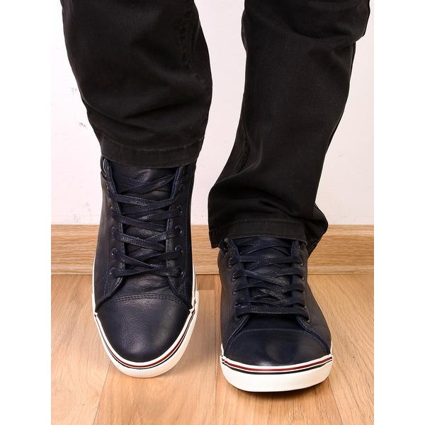 Pantofi Barbati Sport Cu Steag Italia Bleumarin