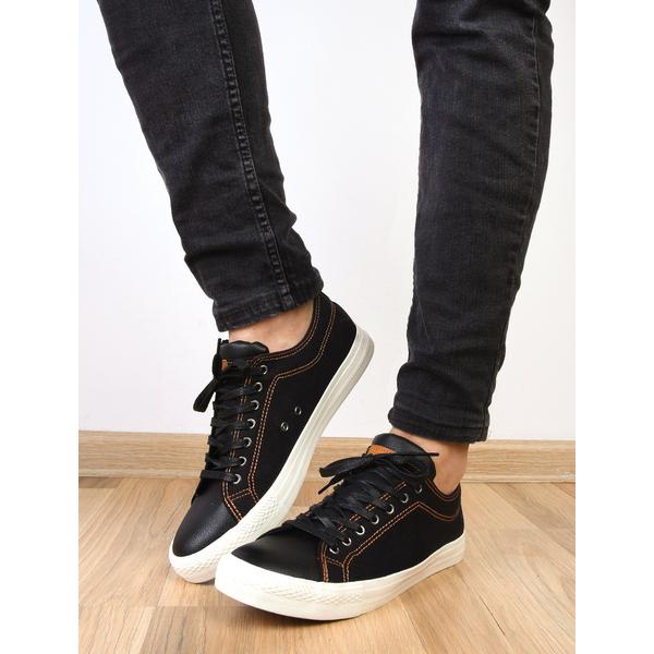Pantofi Barbati Sport Cu Siret Denim New Negri