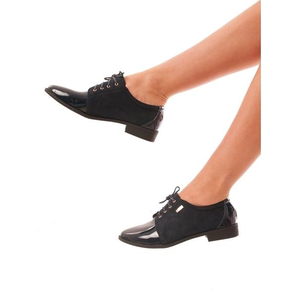 Pantofi Dama Cu Siret Awesome Bleumarin
