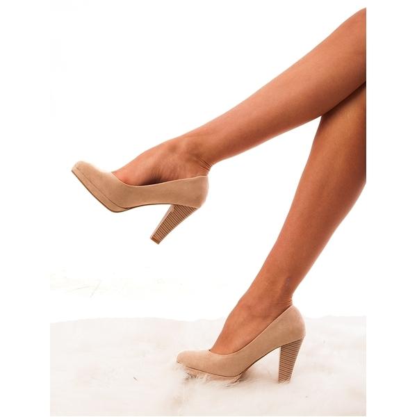 Pantofi Dama Cu Toc Busy Girl Bej