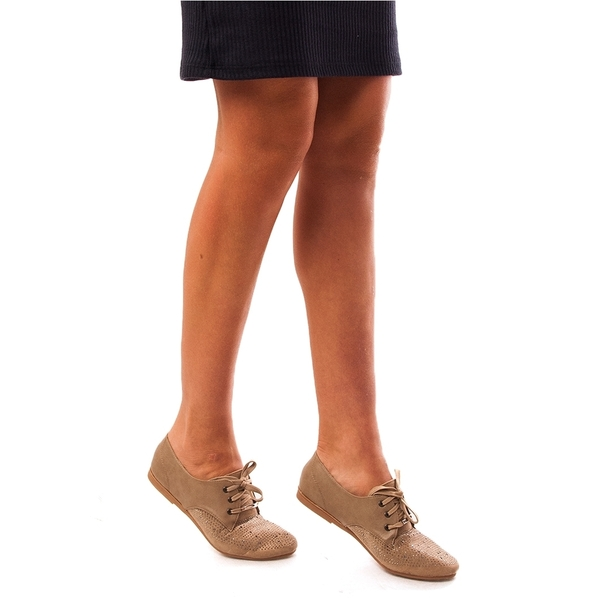 Pantofi Dama Cu Strasuri Find Love Bej