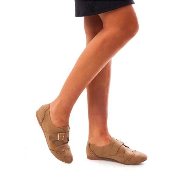Pantofi Dama Cu Catarama Steven Bej